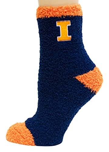 Donegal Bay NCAA Illinois Illini Solid Fuzzy Socks, One Size, Blue by Donegal Bay