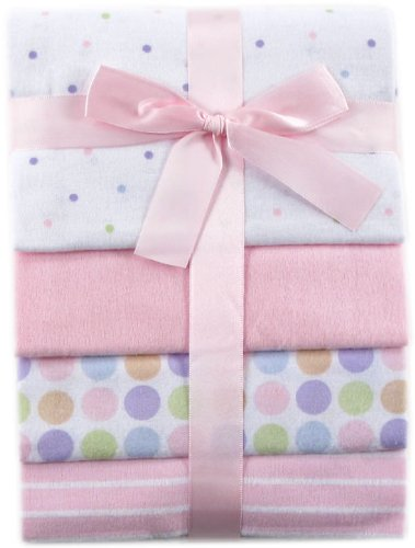Luvable Friends Flannel Receiving Blankets, Rosado, Una talla
