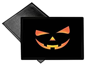 Scary Spooky Halloween Pumpkin Face Welcome Mat 18x24 Outdoor Doormat Rug by Moonlight Printing