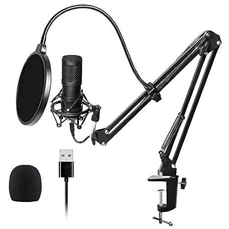 SODIAL - Micrófono de Condensador de cardioide para Estudio ...