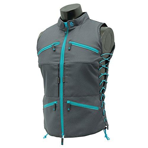 UTG True Huntress Female Sporting Vest, Gray/Blue