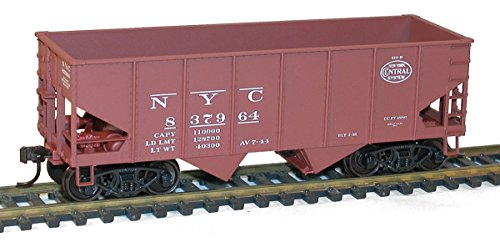 USRA 2-Bay 55-Ton Open Hopper - Kit -- New York Central (Boxcar Red, System Logo)