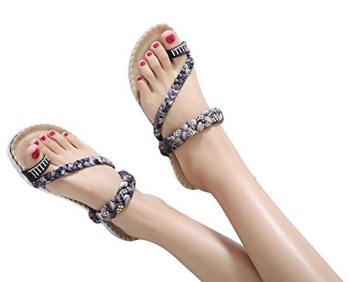 Sandales pour Femme Noir CNPSHOE186 ZAMME fqw64HW