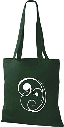 Bolsa de tela decoración floral funda de algodón, bolsa bandolera muchos colores gruen