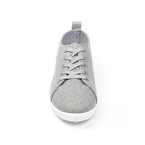 Ideal Shoes, Damen Sneaker Grau