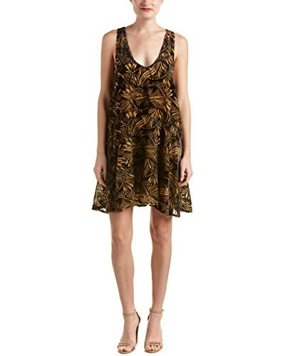 Free People Womens Fit and Flare Velvet Casual Dress Black Combo X-Small from Free People