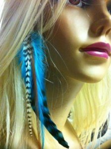 Amazon indian blue clip on feather hair extension approx 6 indian blue clip on feather hair extension approx 6quot 7quot long salon quality pmusecretfo Images