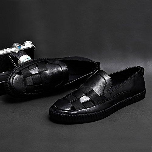 de hombre Tamaño playa Color Balck verano Respire Zapatos Zapatos cuero de sandalia Balck de ZJM libremente cuero caballero 39 de Zapatos de blanco UpatxTR