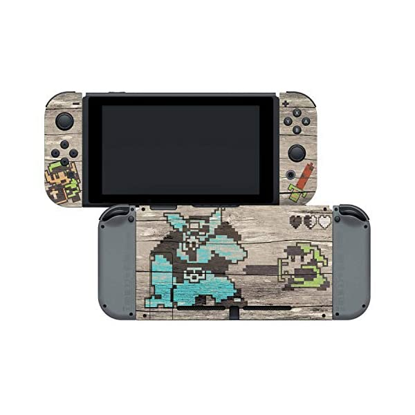 Controller Gear Officially Licensed Nintendo Switch Skin & Screen Protector Set - The Legend of Zelda - Retro Woodgrain… 4