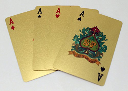Golden Playing Card Perfect Life Ideas Gold Foil Playing Cards Novelty Cards Deck Poker Cards $100 Bill 24K Gold Cards Royal Casino Playing Cards Deck For Poker Blackjack Rummy Carta de Baralho