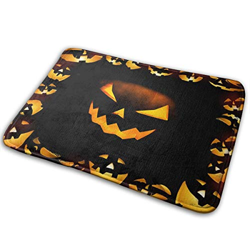 Halloween Calabazas Comfortable Indoor/Outdoor Entrance Mat Doormat Non-Skid Backing Bedroom Floor Carpet Bathroom Kitchen Rug Soft Yoga Pet Pad Home Decor for $<!--$7.99-->