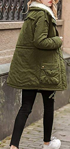 Especial Elegante Abrigo Largos Largo BoBoLily Manga Mujer Estilo Abrigos Espesar Armygreen Transición Invierno Termica Espesar Suave Parka De Outdoor Parka Cómodo qgzZtgxA