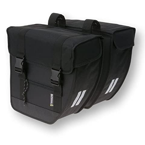 Basil Tour Rear Briefcase Double Pannier Bag Heavy Duty Black 26L - Tour Rack