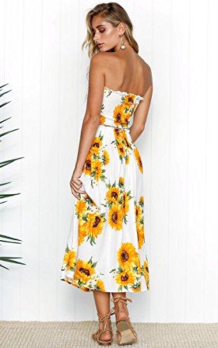 3dff21f85e Angashion Women s Floral Crop Top Maxi Skirt Set 2 Piece Outfit Dress