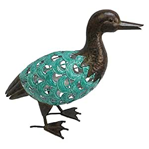 Beckett Corporation Standing Turquoise Duck, Blue