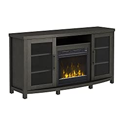 "Pamari 208282 Milena Stand with Electric Fireplace for Tvs up to 60"" Stanton Birch Brown by Twin-Star International"
