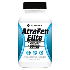 Atrafen Elite – Professional Formula Appetite Suppressant Fat Burner Diet Pill and Thermogenic for Fast Weight Loss. Works Great for Those on Keto Diets. 60 Count.