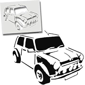 Farbe W/ände Stoffe M/öbel XS// 11X14.5CM Mini Cooper Auto Schablone Wiederverwendbar Waschbar Wohndeko Kunst Handwerk Malerei Druck