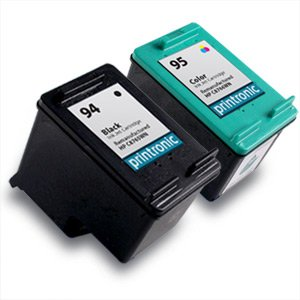 2 PACK Remanufactured INK CARTRIDGE FOR HP 94 HP 95 C8765W / C8766W