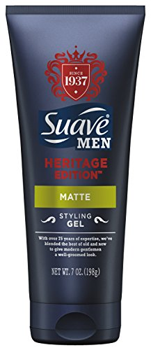 Suave Men Styling Gel, Heritage Edition Matte 7 oz