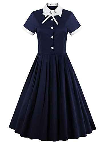 ReoRia Womens Sleeve Rockabilly Vintage product image