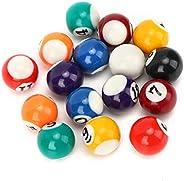 Mini Resin Billiard Balls Eco-Friendly Kids Billiard Ball Toy 16 Pcs 2.5cm Pool Table Billiard Training Cue Ba