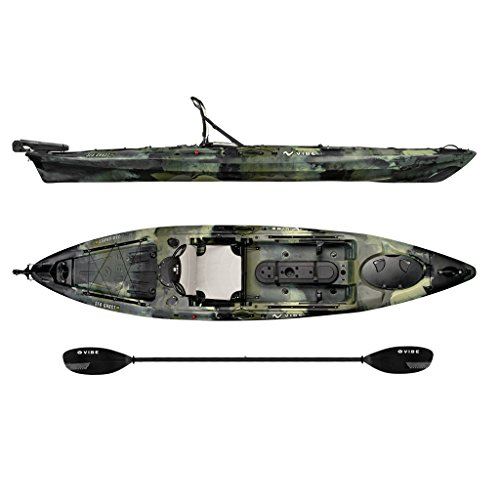 Vibe Kayaks Sea Ghost 130 | 13ft Angler - Single Person, Sit On Top...