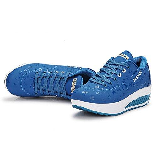Ginnastica Sneakers Running Wyhweilong Scarpe Outdoor Sportive Da Donna Blu Tennis qA8wAvt