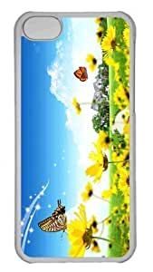Customized iphone 5C PC Transparent Case - Dreamscape Spring 5 Personalized Cover