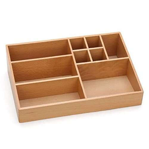 Cheap KINGZHUO 32.8 x 21 x 8.9 cm 9 Sections Creative Bamboo Wooden Makeup Storage Box Multi-Function Cosmetic Organiser Perfect for Perfume Makeup Tools Jewelry Storage Box hot sale