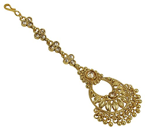 - MUCH-MORE Indian Glamorous Style Party wear Maang Tikka Forehead Traditional Jewelry (2277)