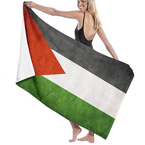 才能のある魅了するアンドリューハリディビーチバスタオル バスタオル パレスチナの旗 ビーチタオル 海水浴 旅行用タオル 多用途 おしゃれ White