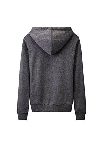 Manga larga Star Yacun mujer impreso con capucha Sweatershirt Darkgrey