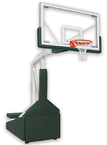 最初チームTempest triumph-fl steel-glassポータブルバスケットボールシステムwith公式ガラスbackboard44 ;パープル B01HC0C152