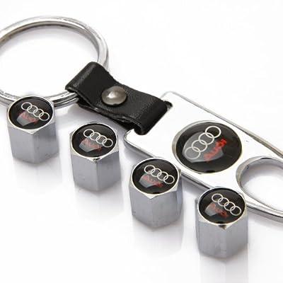 ZKHXFS zinc Alloy tire Valve Cap Keychain Apply to for Audi: Automotive