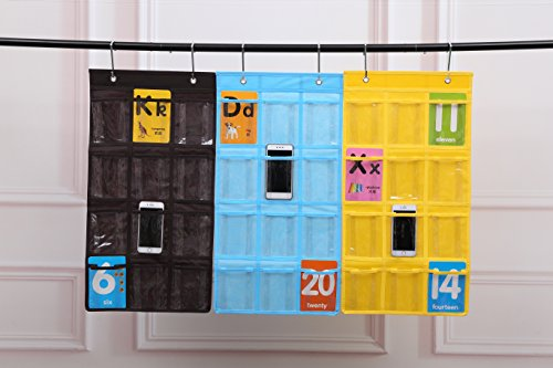 Spacehome@ 12-Pocket Classroom Pocket Chart Cellphone Pocket Chart Holder Wall Door Hanging Organizer CPC-5 (coffee)