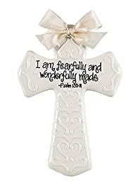 Psalm 139:14 Wall Cross for Child\'s Room - Baptism, Dedication, Christening - I Am Fearfully and Wonderfully Made