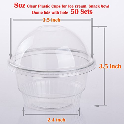 8 oz clear cups with lids - 4