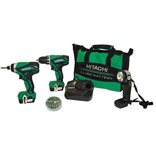 (Hitachi KC10DFL2 12V Peak Cordless Lithium-Ion 3-Tool Combo Kit (Renewed) )