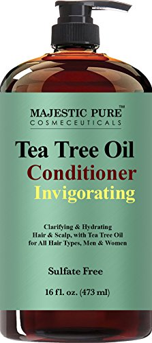 Tea Tree Oil Hair Conditioner, Clarifying & Hydrating, Helps Reduce Itchy and Dry Scalp, Sulfate Free, Paraben Free, 16 fl oz