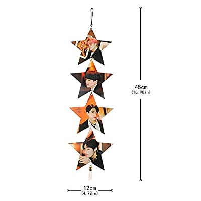 Teblacker BTS Hanging Ornament, Kpop Bangtan Boys《Map of The Soul: Persona》Star Hanging Decoration for Wall Door Window( Style 02): Toys & Games