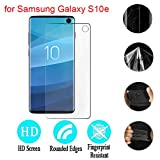 Cyhulu New Fashion Clear Soft TPU Cover Screen Film Protector Accessories Compatible with Samsung Galaxy S10e 5.8 inch Phone