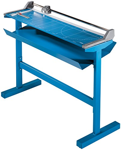 Dahle 556s Professional Rolling Trimmer With Stand, 37 3/4'' Cut Length, 14 Sheet, Large Format, Commercial, Self-Sharpening Blade, Cuts in Either Direction, Automatic Paper Clamp by Dahle