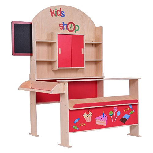 MD Group Wooden Toy Shop Pretend Play Set Red MDF & Pine Wood by MD Group