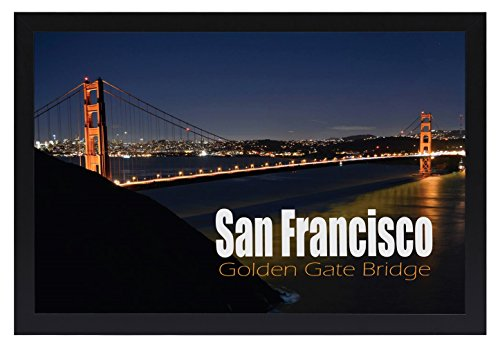 Frametory, 12X18 Poster Frame with Plexiglas Front, Golden Gate Bridge Gallery Edition, Designed to Display Vertically or Horizontally on a Wall by Frametory