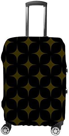 スーツケースカバー 幾何学 ひし形 金色 伸縮素材 キャリーバッグ お荷物カバ 保護 傷や汚れから守る ジッパー 水洗える 旅行 出張 S/M/L/XLサイズ