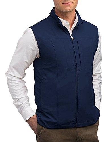 SCOTTeVEST RFID Travel Vests for Men with Pockets - Rugged Travel Clothing (NVY L)