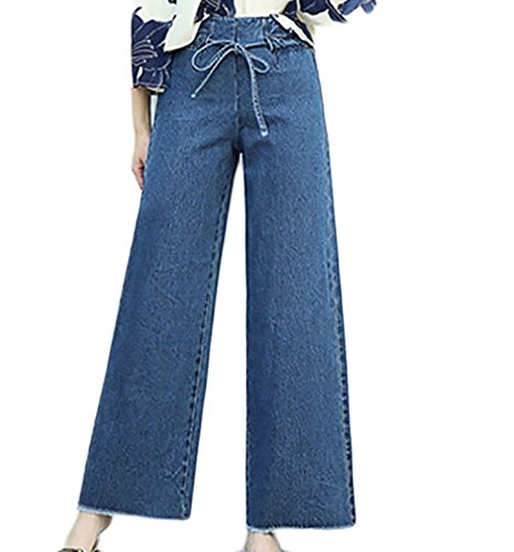 (YLcabin High Waist Loose Fit Casual Fashion Palazzo Pants)