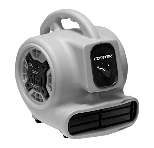 Contair FLO800GY Flow High Velocity Powerful Air Mover Carpet Dryer Floor Kitchen Drying Fan, - Dry Mover Air