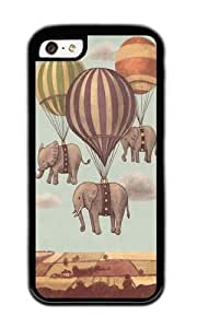linJUN FENGApple Iphone 5C Case,WENJORS Awesome Flight of the Elephants Soft Case Protective Shell Cell Phone Cover For Apple Iphone 5C - TPU Black